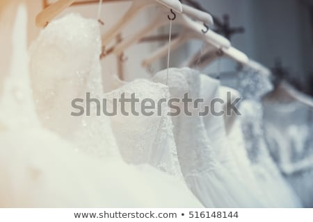 Gelinlik detay asılı hazır düğün cam Stok fotoğraf © david010167