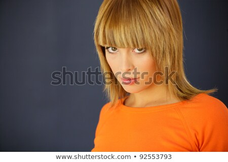 Gorgeous woman with a blunt fringe Stock photo © photography33