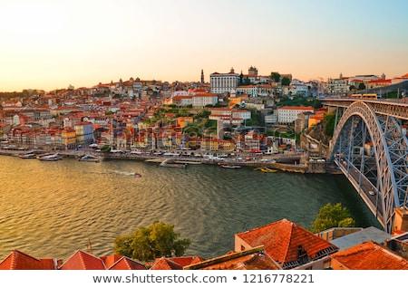 Tökéletes folyó Portugália gyönyörű vízpart város Stock fotó © jeayesy