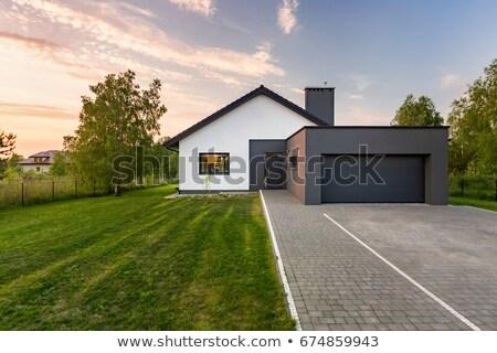 Single house with trees stock photo © emese73
