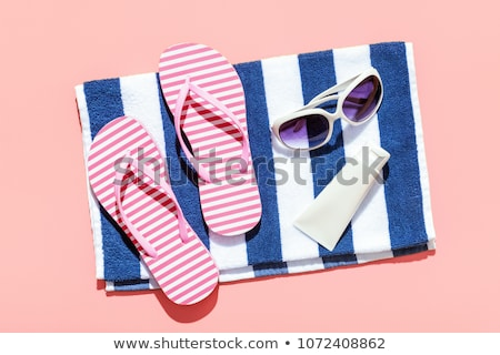 beach towel and sandals Stock photo © neirfy