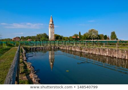 Velence szőlőskert szent víz épület kő Stock fotó © keko64