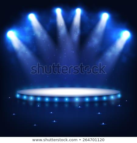 空っぽ · ステージ · スポット · ライト · 3dのレンダリング · パーティ - ストックフォト © anterovium