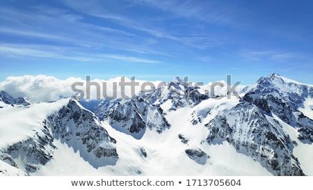 широкий · мнение · зима · альпийский · долины · снега - Сток-фото © bsani