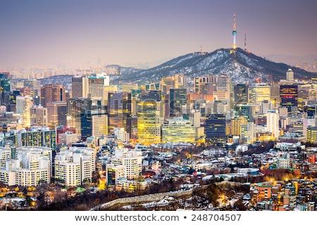 Görmek merkezi Seul Güney Kore kentsel Stok fotoğraf © travelphotography