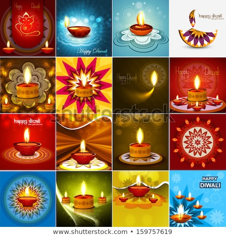 Vektor gyönyörű diwali ünneplés 16 gyűjtemény Stock fotó © bharat