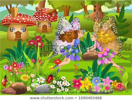 Picture a beautiful fairy girl in vegetation Stock photo © pxhidalgo