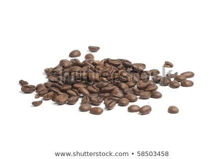 Big Heap of Brown Coffee Beans Isolated on White Background Stock photo © maxpro