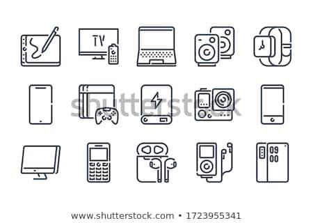 Notebook smartphone ui design elementi business Foto d'archivio © vectorpro