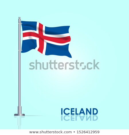 Islandia · reikiavik · mapa · vintage · 1920 · rojo - foto stock © tashatuvango