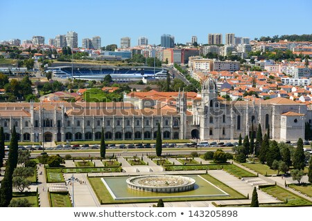Portal igreja mosteiro Lisboa decorado religioso Foto stock © rognar
