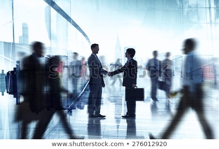 business people meeting standing silhouette Stock photo © Istanbul2009