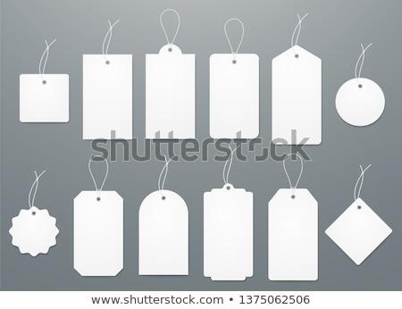 Ajándék címke izolált fehér papír terv Stock fotó © natika