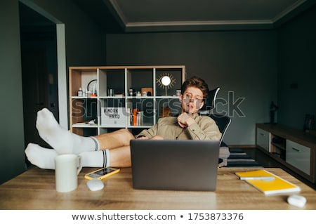 Relaxed Telecommuting Stock photo © leetorrens