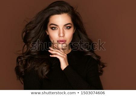 Aantrekkelijk elegante brunette bruine ogen mooie vrouw Stockfoto © racoolstudio
