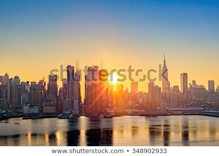 Ny città sunrise New York City cityscape Foto d'archivio © dgilder