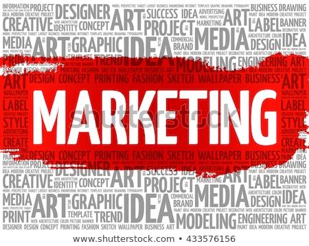 Stock fotó: Stratégia · grunge · szófelhő · szófelhő · piros · szó