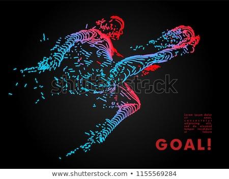 resumen · fútbol · vector · diseno · deportes · ola - foto stock © pathakdesigner