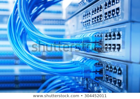 Fiber Cable Connections in Switch Stock photo © silkenphotography