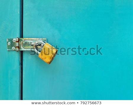 Pastel kapı kilitlemek renk Stok fotoğraf © sundaemorning