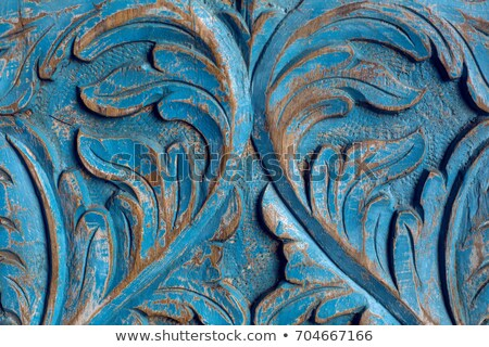 Wood carving of old decoration item Stock photo © nalinratphi