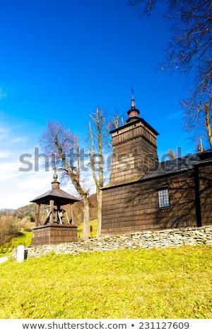 wooden church, Leluchow, Poland Stock photo © phbcz