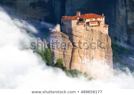 Church in greece village Kastraki near Meteora rocks Stock photo © mahout