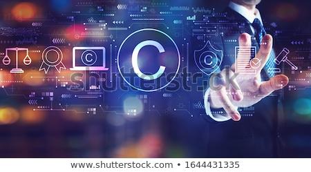 Auteursrecht intellectuele eigendom man hand symbool Stockfoto © olivier_le_moal