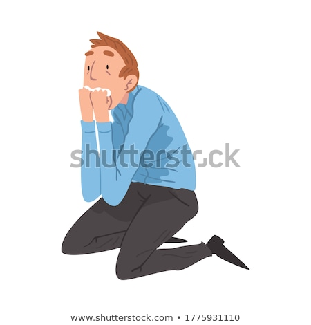 cartoon nervous man Stock photo © lineartestpilot