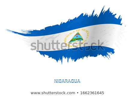Grunge bayrak Nikaragua grunge texture arka plan Stok fotoğraf © tintin75