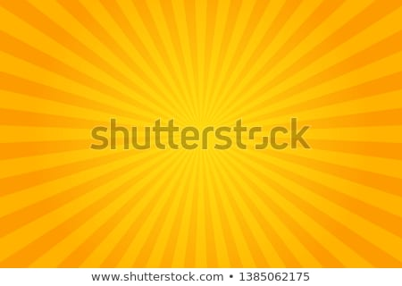 Sunburst Poster With Beams Stock photo © adamson