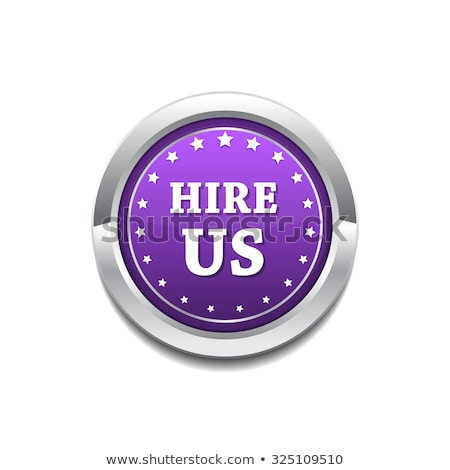 hire us purple circular vector button stock photo © rizwanali3d