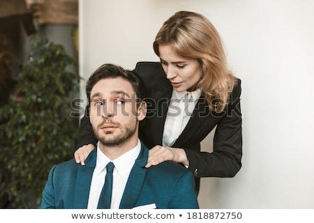 Stok fotoğraf: Işkadını · patron · ofis · genç · iş · sevmek