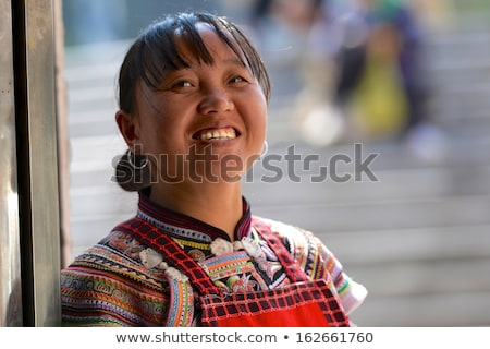 Chinese minority nationality girl stock photo © elwynn
