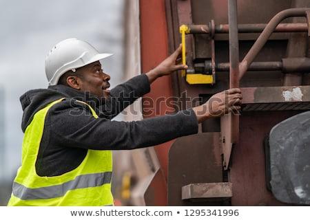 железная дорога рабочие миниатюрный модель мелкий Сток-фото © nelsonart