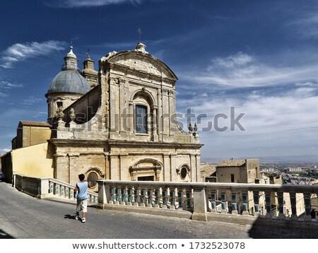 Weinig kerk gebouw architectuur dorp bel Stockfoto © phbcz