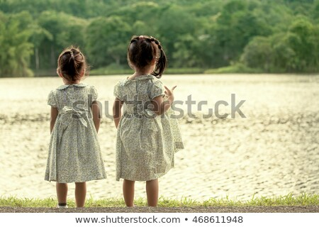 girl stand in river Stock photo © PetrMalyshev