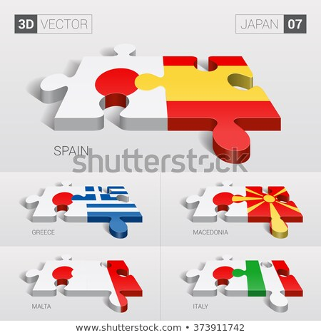 Japan and Italy Flags in puzzle Stock photo © Istanbul2009