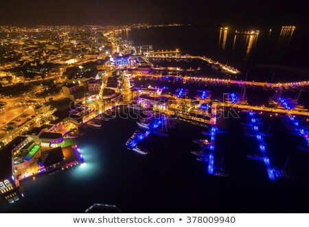 A panoramic view of Limassol cityscape at night. Cyprus Stock photo © Kirill_M