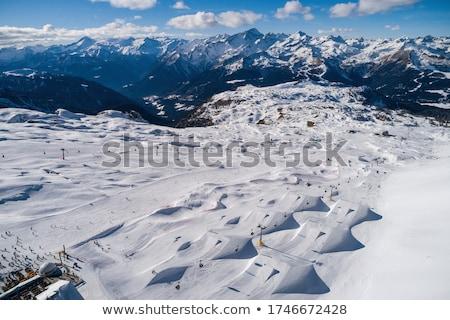 Val di Sole, aerial view Stock photo © Antonio-S