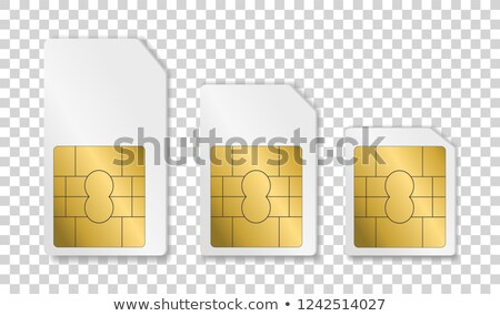 Stock photo: Set of SIM cards of different sizes(mini, micro, nano)