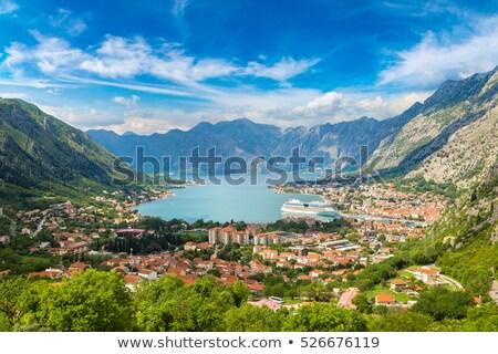 Panoramic view on Kotor, Montenegro. Stock photo © master1305