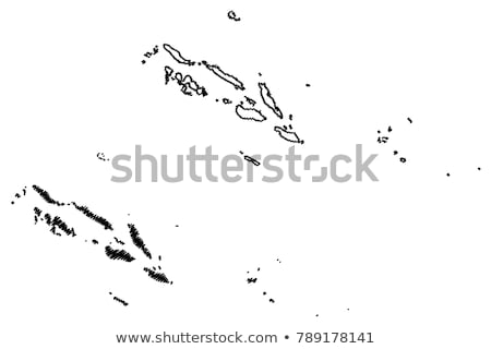 Doodle Map of Solomon Islands Stock photo © ojal