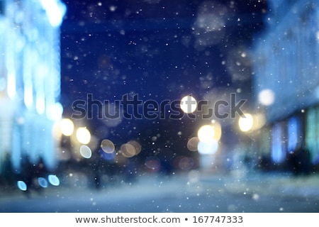 Rijm venster christmas licht bokeh abstract Stockfoto © Juhku