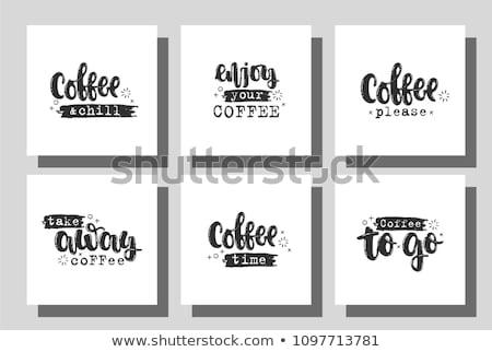 наслаждаться кофе ресторан таблице завтрак Кубок Сток-фото © Zerbor