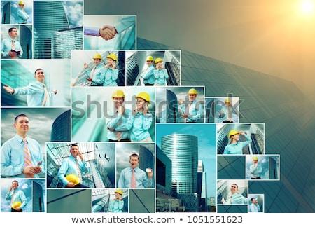 muchos · rascacielos · cielo · collage · oficina · nubes - foto stock © Paha_L