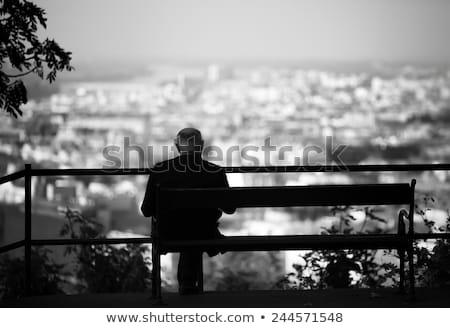 Jubilado ancianos caballero cámara Foto stock © ozgur