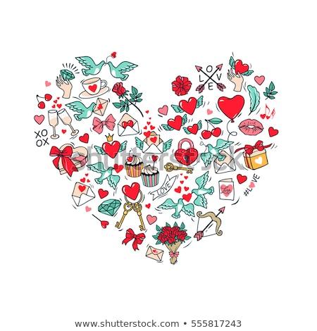 sevmek · simgeler · sadece · semboller · web - stok fotoğraf © netkov1