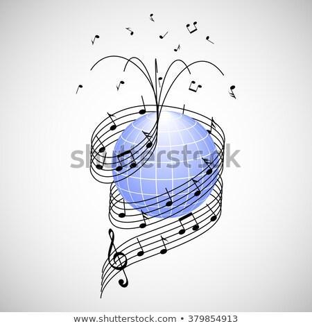 音符 · スタッフ · セット · 透明 · eps10 · 音楽 - ストックフォト © m_pavlov