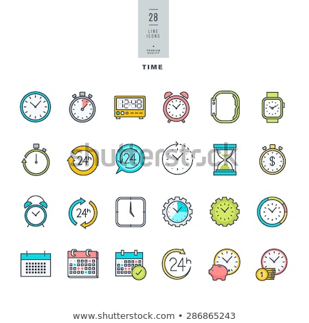 Gadgets Colored Line Icons Stock photo © AnatolyM